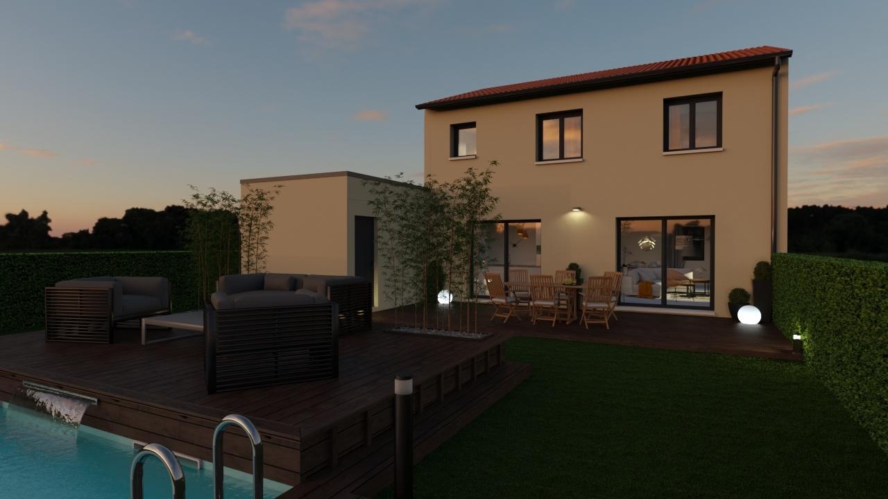 Maisons + Terrains du constructeur MAISONS AXIAL • 110 m² • CONDRIEU