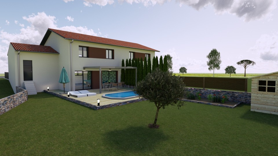 Maisons + Terrains du constructeur MAISONS FRANCE CONFORT • 97 m² • MIONNAY