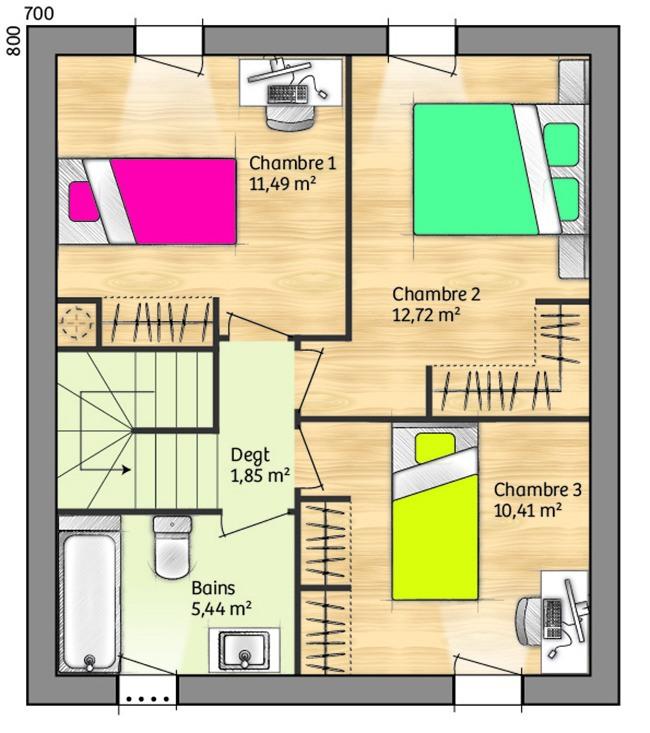 Maisons + Terrains du constructeur LES MAISONS DE MANON - GARDANNE • 84 m² • GARDANNE