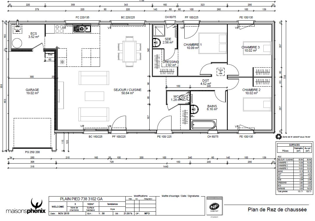 Maisons + Terrains du constructeur Maison Familiale Andrezieux Boutheon • 102 m² • ROANNE