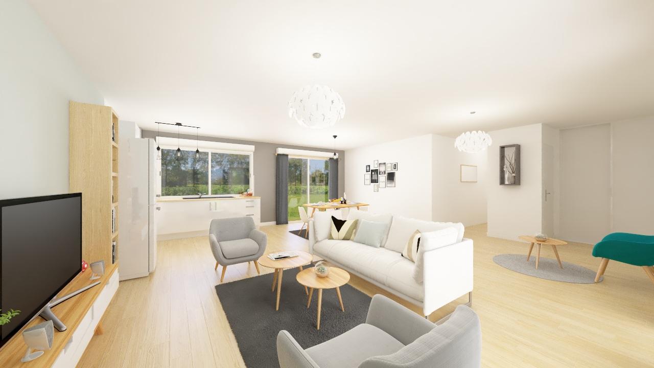 Maisons + Terrains du constructeur Maison Familiale Andrezieux Boutheon • 102 m² • CHAMPDIEU