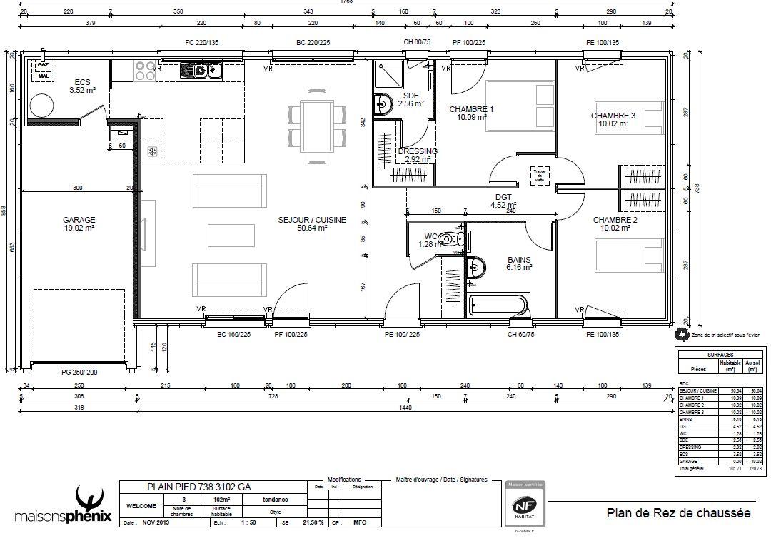 Maisons + Terrains du constructeur Maison Familiale Andrezieux Boutheon • 102 m² • ROZIER EN DONZY