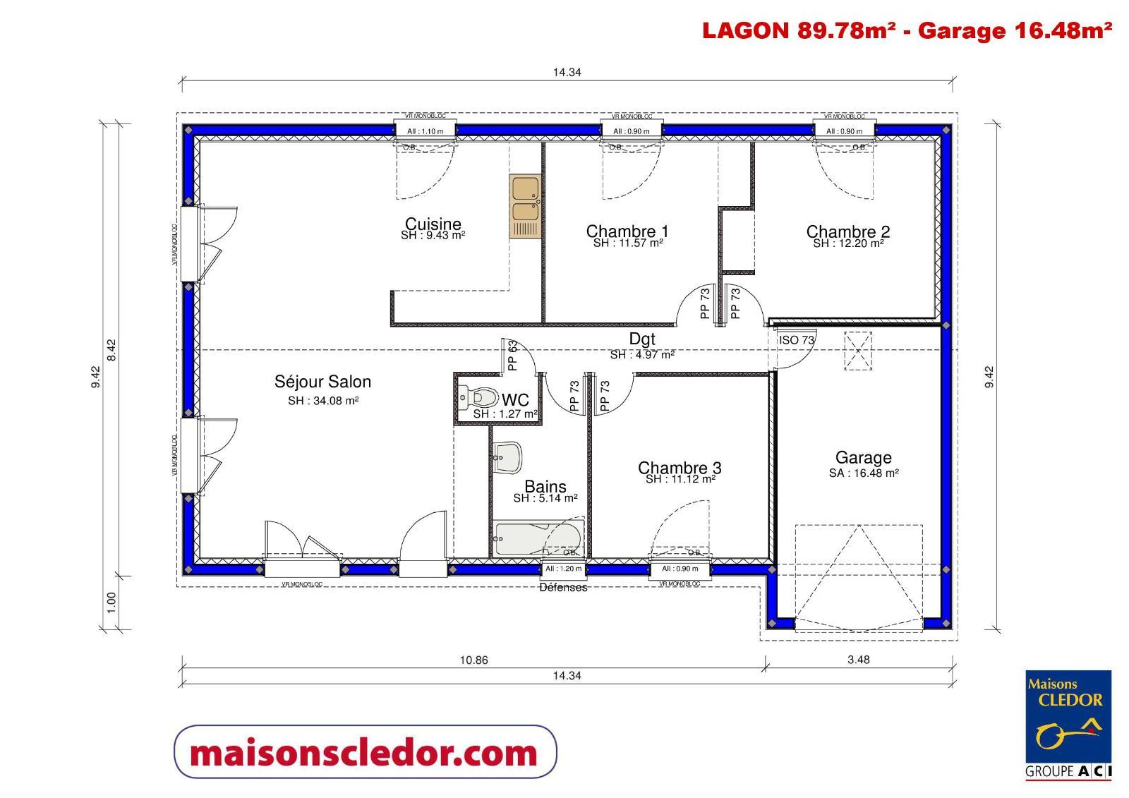 Maisons du constructeur MAISONS CLEDOR • 80 m² • BEAUREGARD VENDON