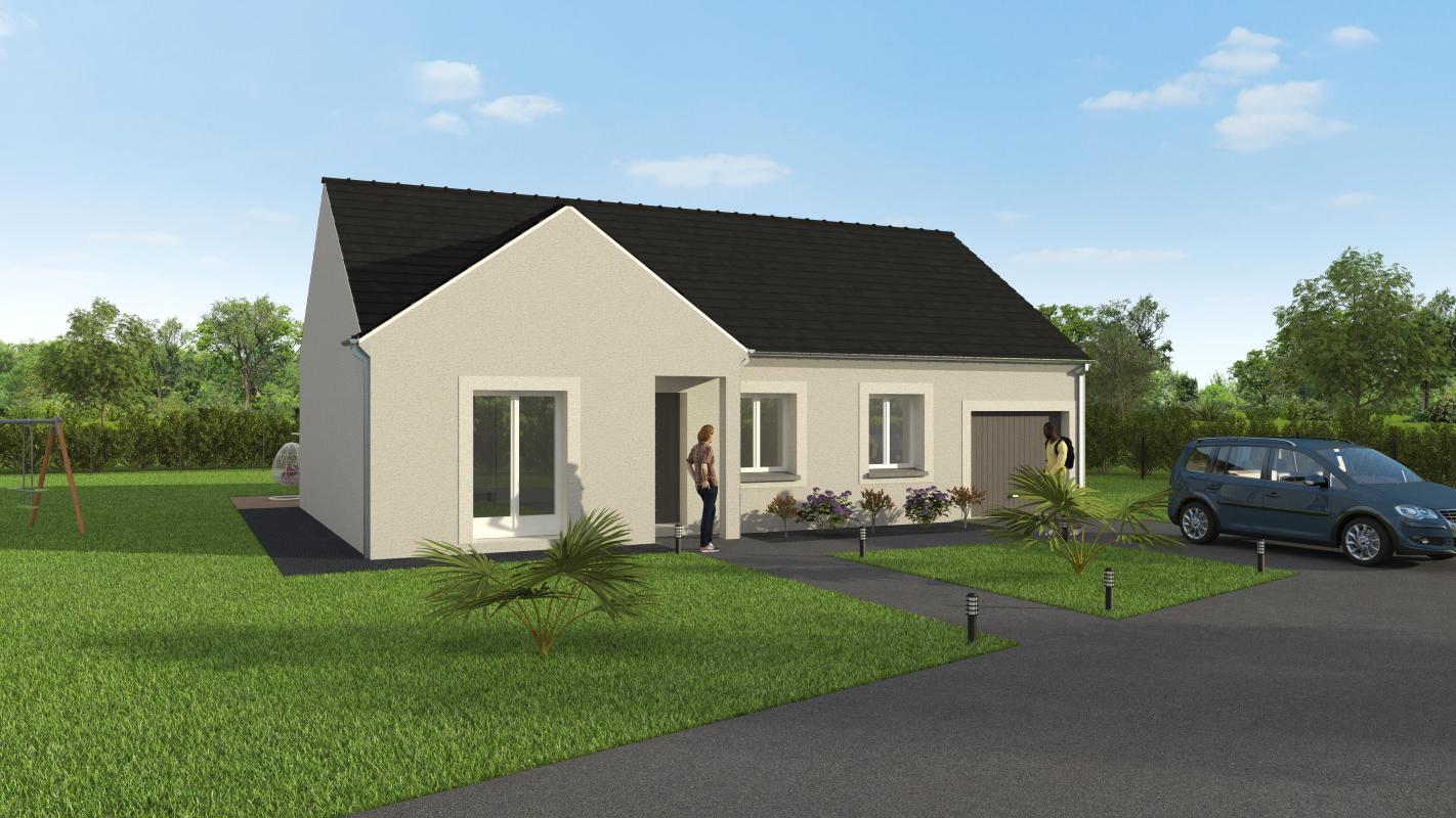 Maisons + Terrains du constructeur GROUPE DIOGO FERNANDES • 90 m² • SAINT GEORGES SUR EURE