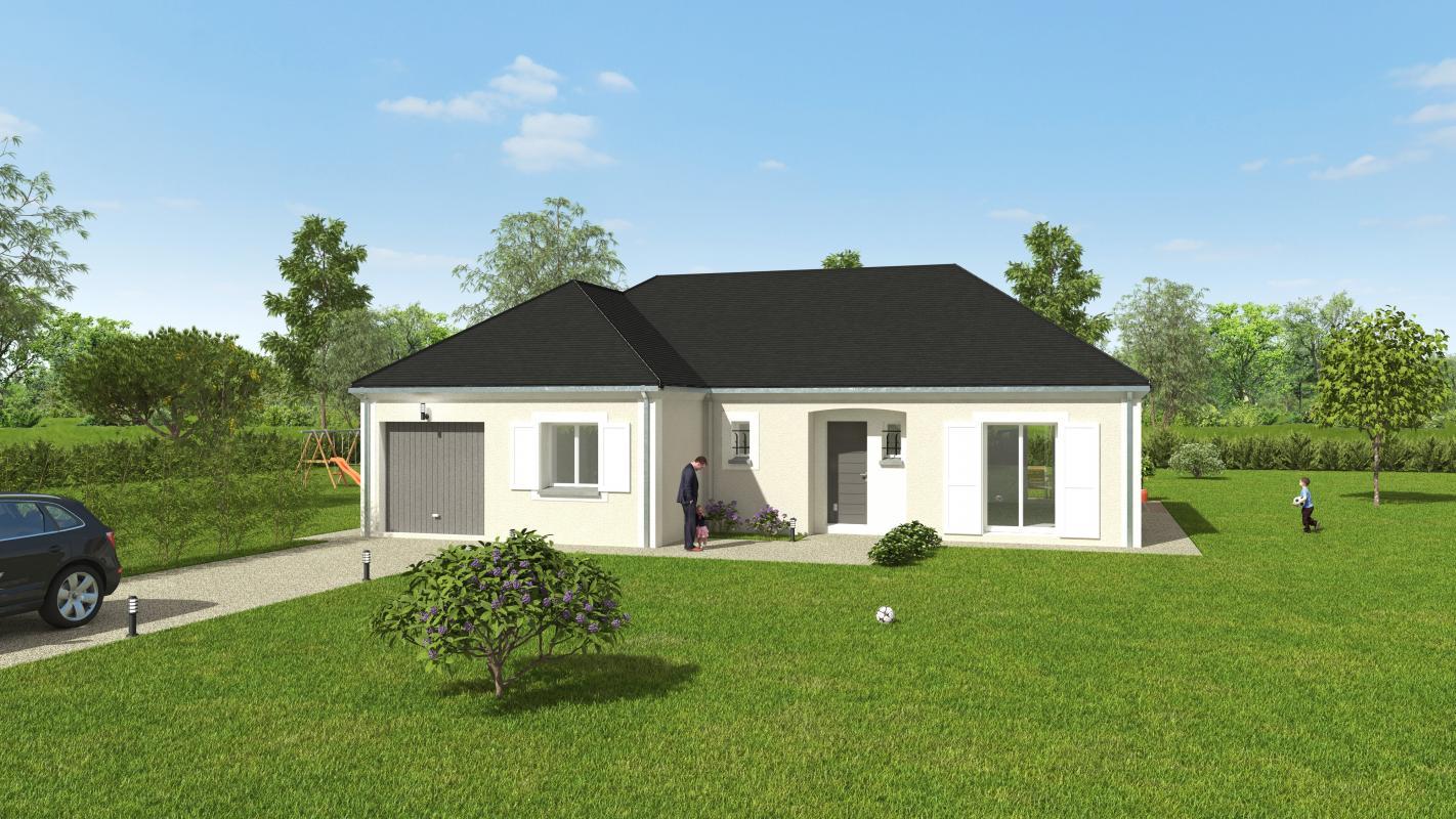 Maisons + Terrains du constructeur GROUPE DIOGO FERNANDES • 102 m² • LA CHAPELLE DU NOYER
