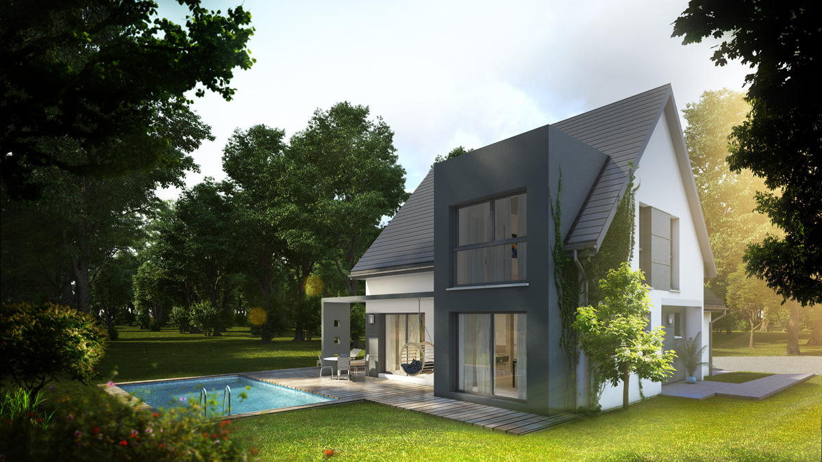 Maisons du constructeur LYCENE • 138 m² • DIDENHEIM