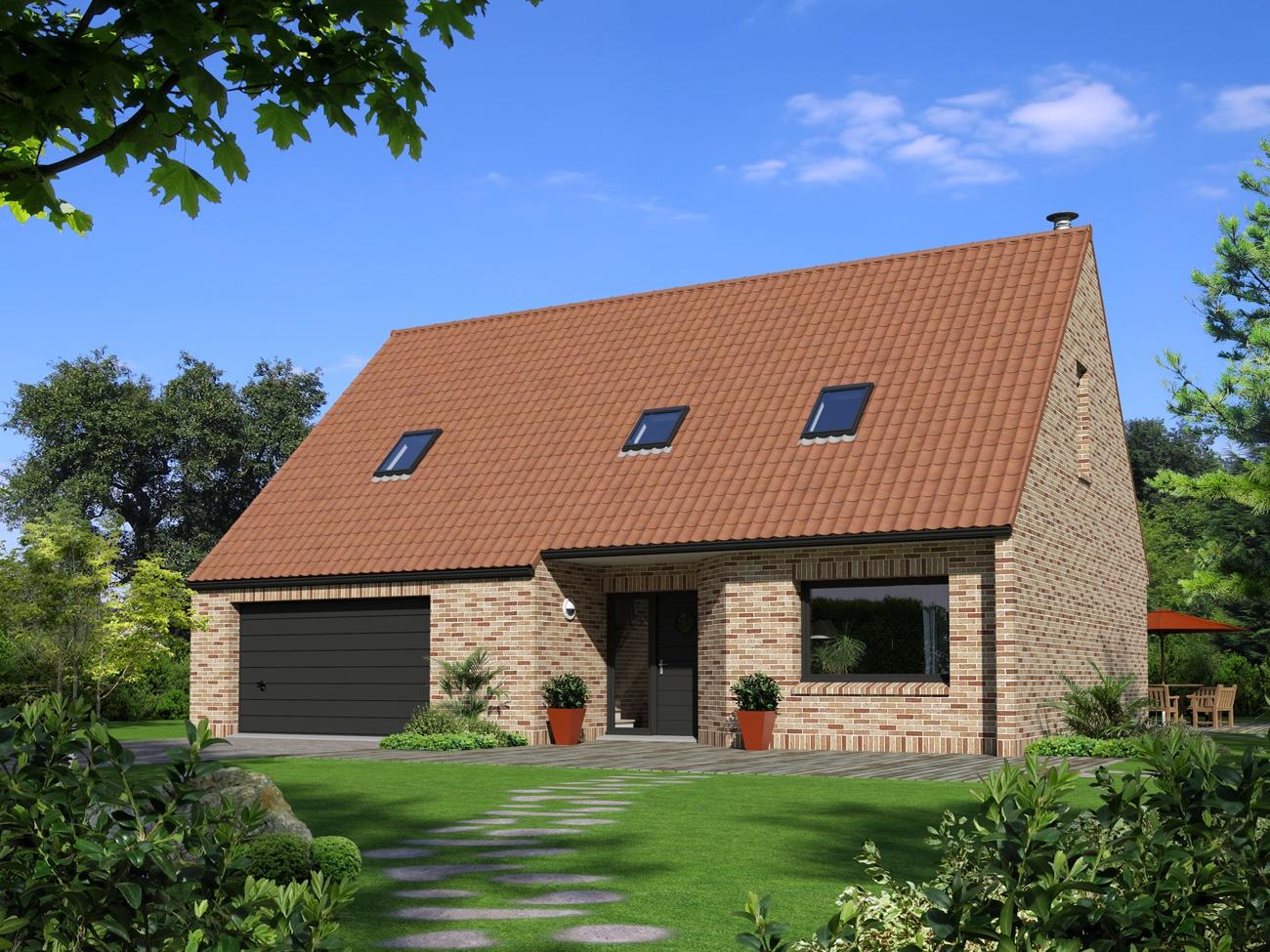 Maisons + Terrains du constructeur Maison Familiale - Lille • 107 m² • WINNEZEELE