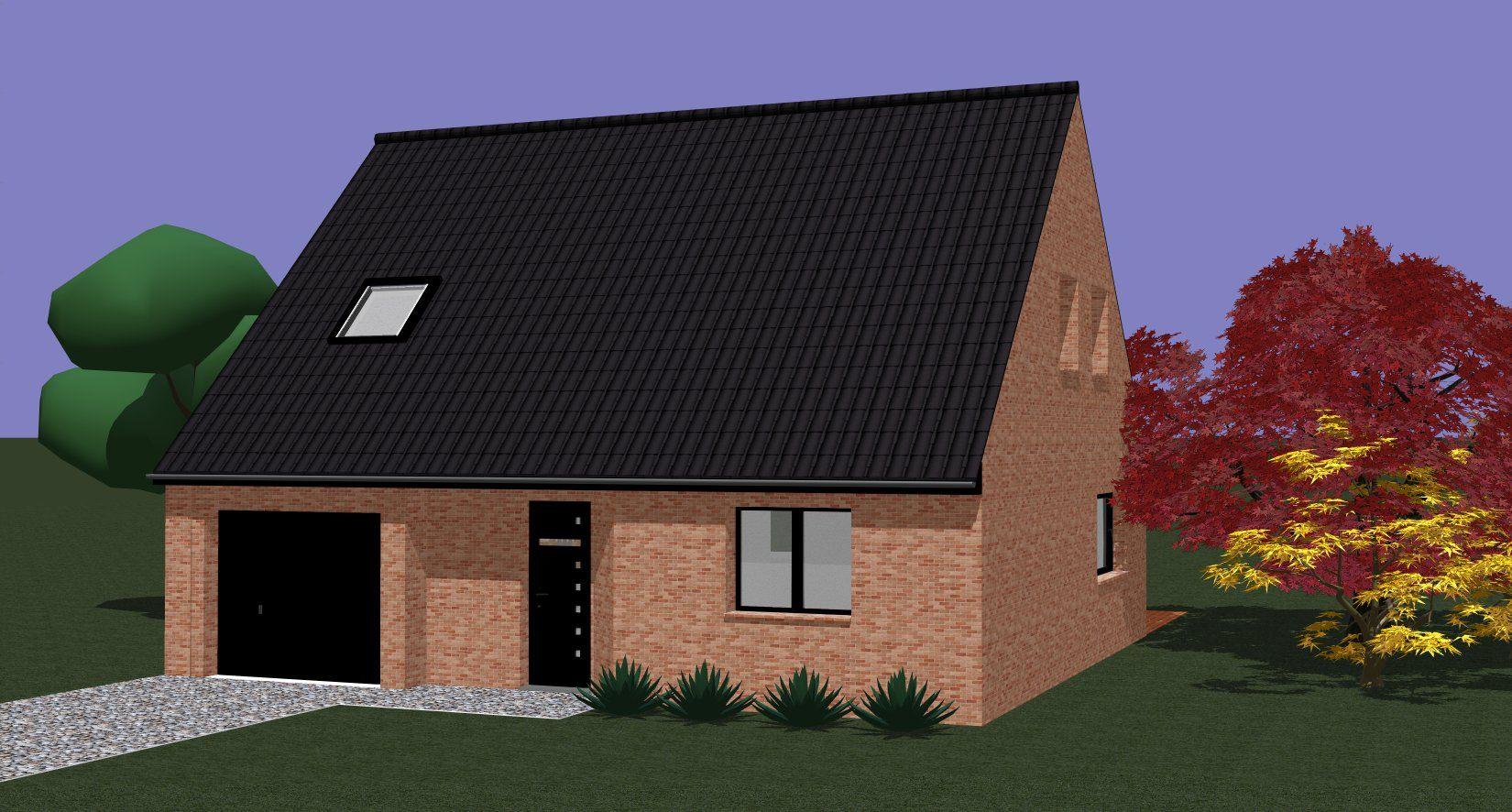 Maisons + Terrains du constructeur Maison Familiale - Lille • 98 m² • NOMAIN