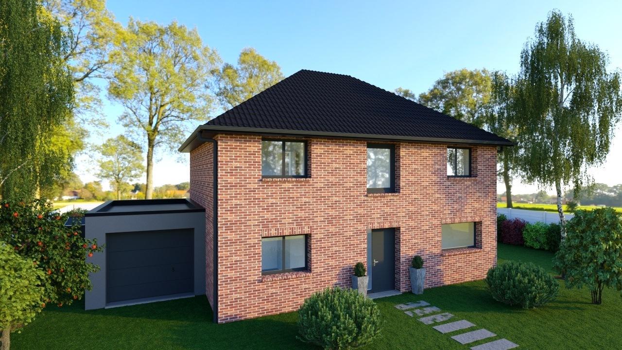 Maisons + Terrains du constructeur Maison Familiale - Lille • 130 m² • MONS EN PEVELE