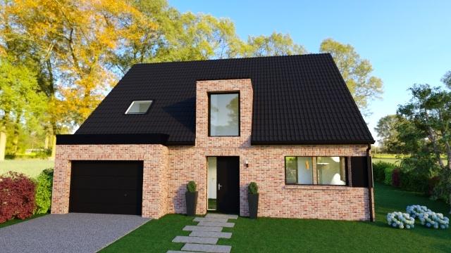 Maisons + Terrains du constructeur Maison Familiale - Lille • 130 m² • MONCHEAUX