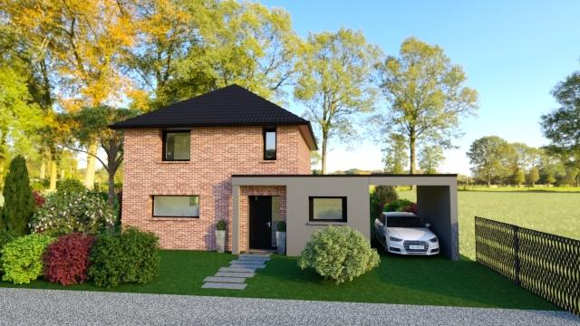 Maisons + Terrains du constructeur Maison Familiale - Lille • 130 m² • THUMERIES
