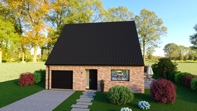 Maisons + Terrains du constructeur Maison Familiale - Lille • 110 m² • THUMERIES
