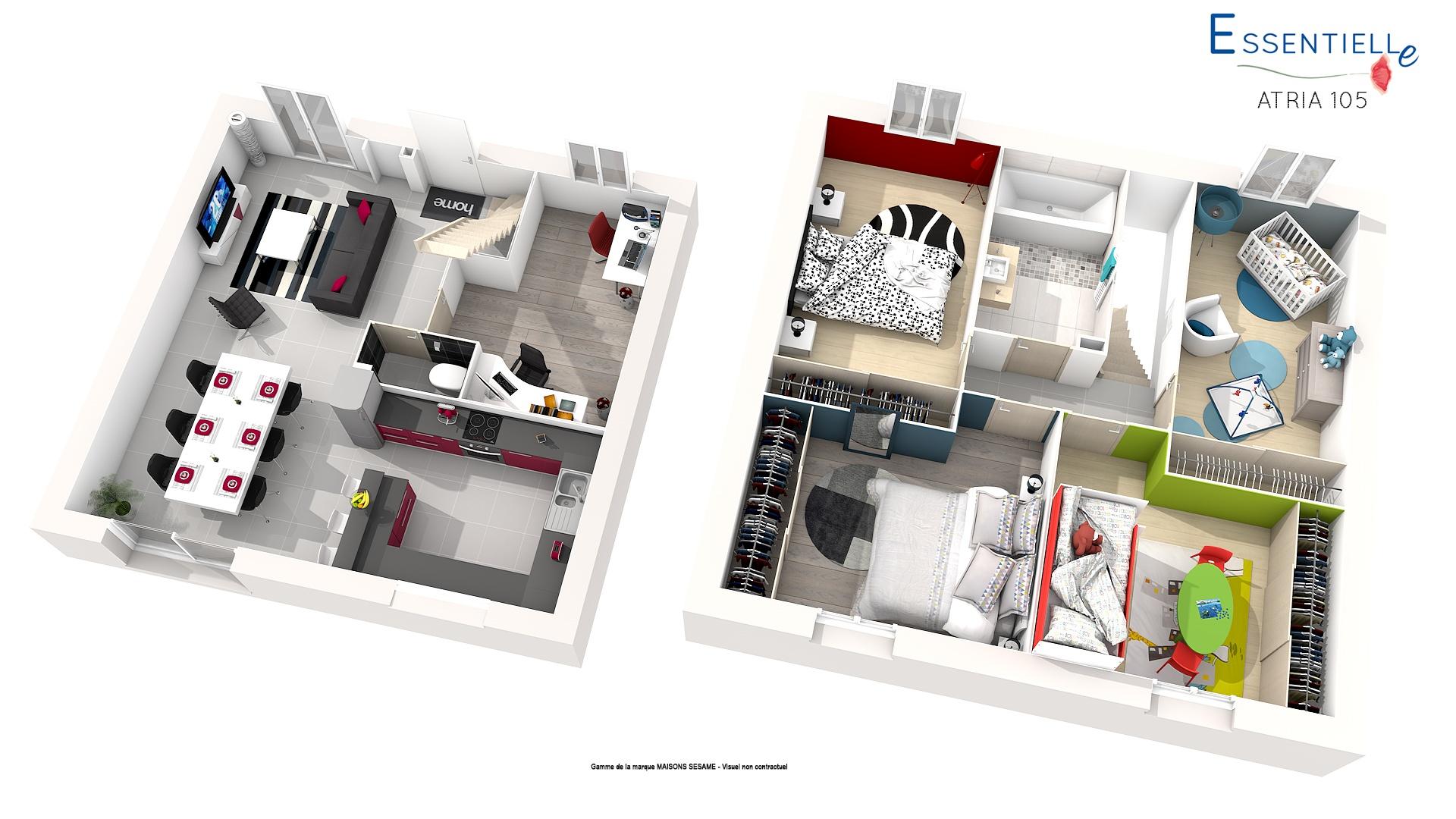 Maisons + Terrains du constructeur COFIDIM MAISONS SESAME • 98 m² • LEUDEVILLE