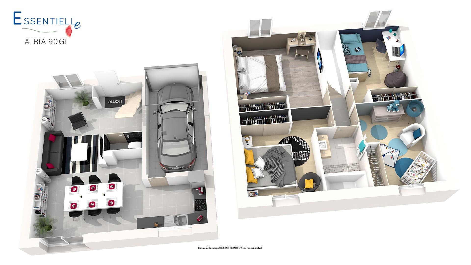 Maisons + Terrains du constructeur COFIDIM MAISONS SESAME • 90 m² • BRETIGNY SUR ORGE