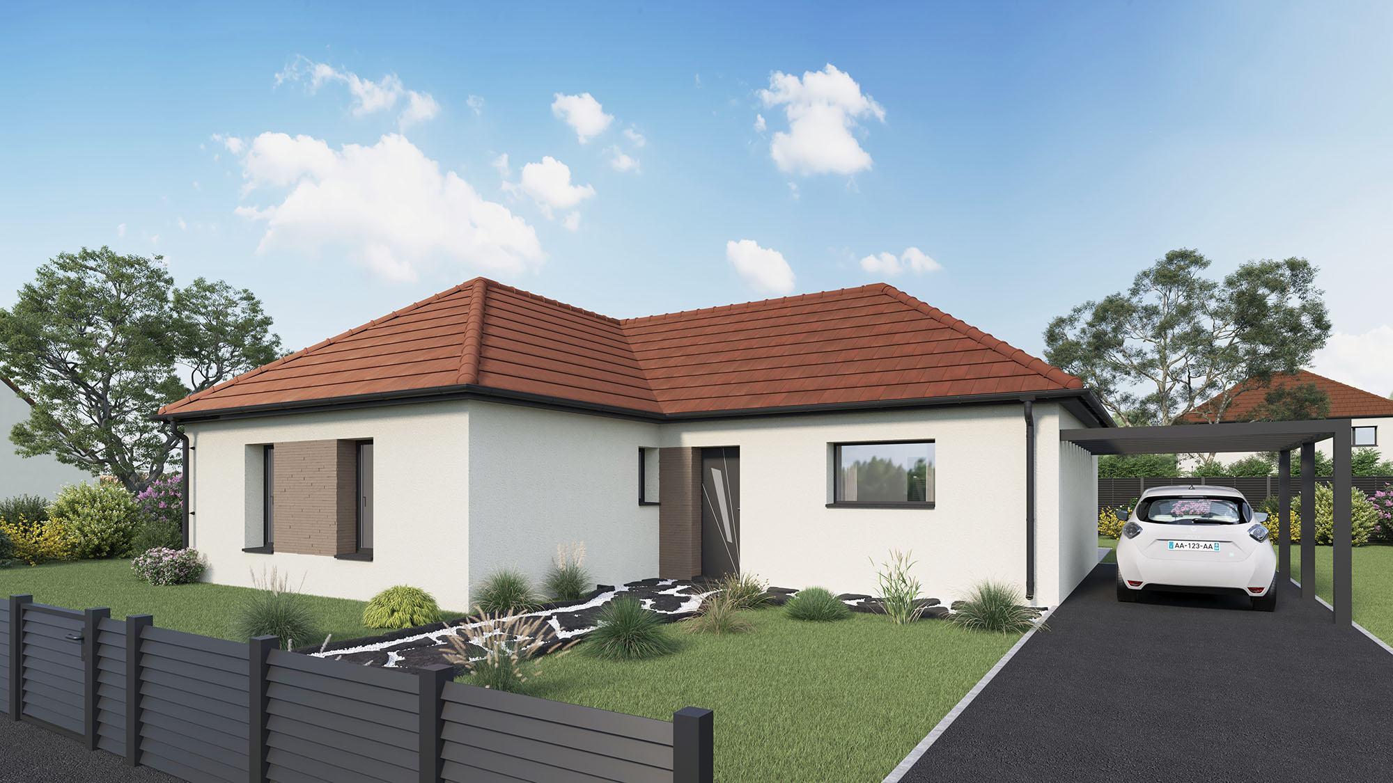 Maisons + Terrains du constructeur Maison Castor Rouen • 100 m² • BOSC LE HARD