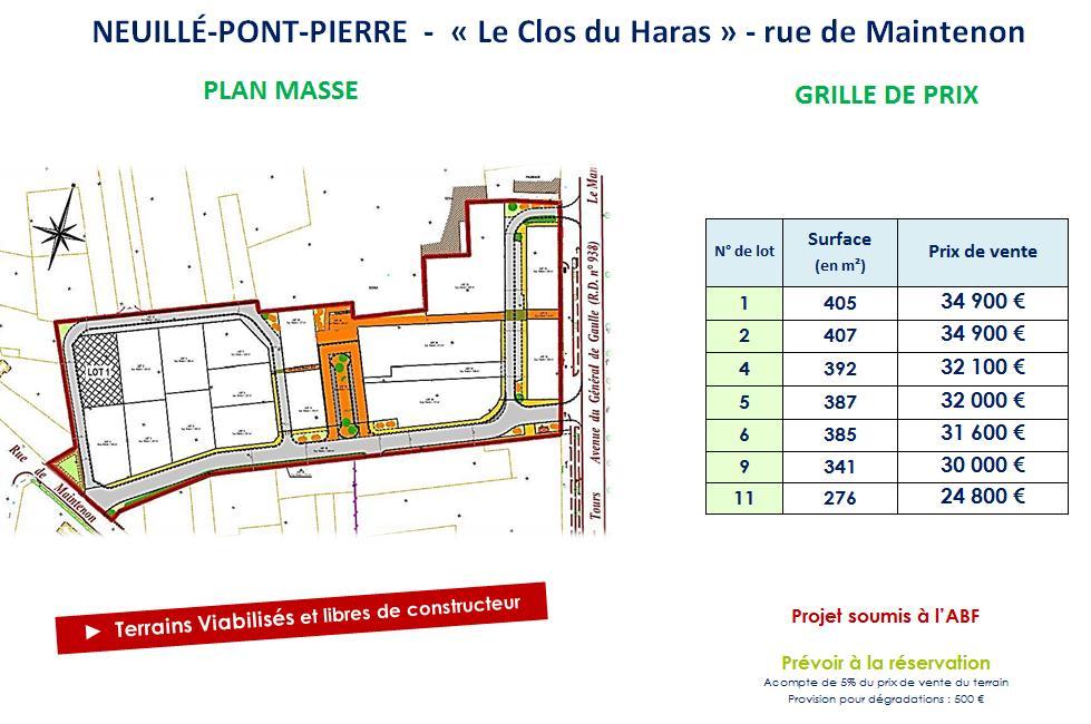 Terrains du constructeur VAL TOURAINE HABITAT • 407 m² • NEUILLE PONT PIERRE