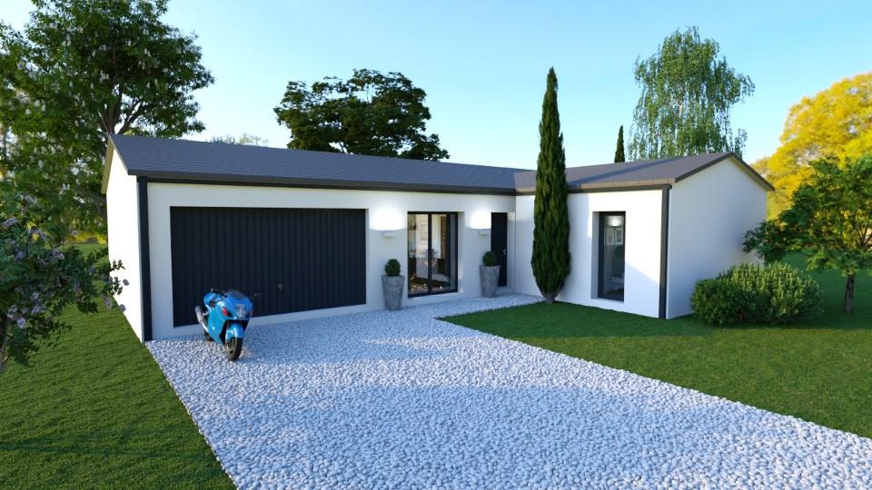 Maisons + Terrains du constructeur BERMAX CONSTRUCTION • 80 m² • SAINT GENIS D'HIERSAC