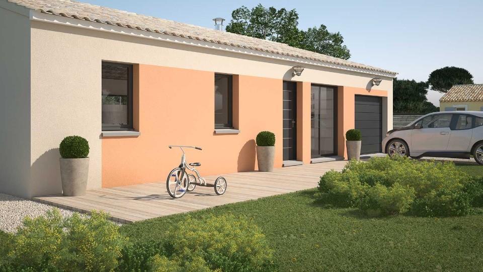 Maisons + Terrains du constructeur MAISONS FRANCE CONFORT • 61 m² • LAURAGUEL