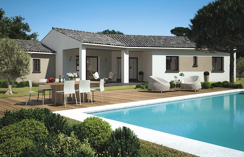 Maisons + Terrains du constructeur LES MAISONS DE MANON • 130 m² • ROGNES