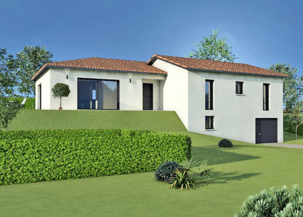 Maisons + Terrains du constructeur MAISONS ARLOGIS VILLEFRANCHE • 110 m² • VAUX EN BEAUJOLAIS