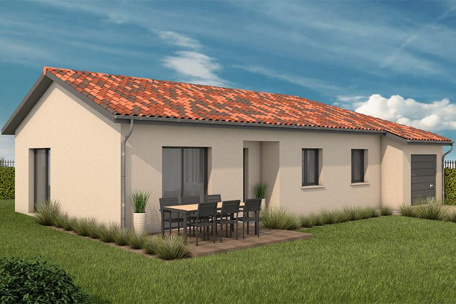 Maisons + Terrains du constructeur MAISONS ARLOGIS VILLEFRANCHE • 95 m² • DRACE