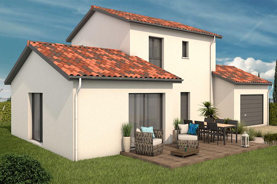 Maisons + Terrains du constructeur MAISONS ARLOGIS VILLEFRANCHE • 120 m² • DRACE