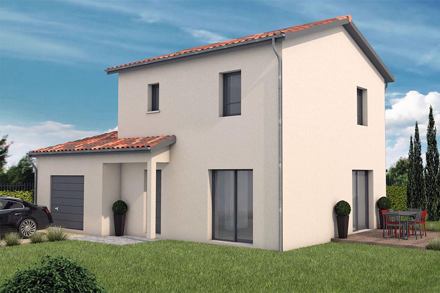 Maisons + Terrains du constructeur MAISONS ARLOGIS VILLEFRANCHE • 90 m² • DRACE