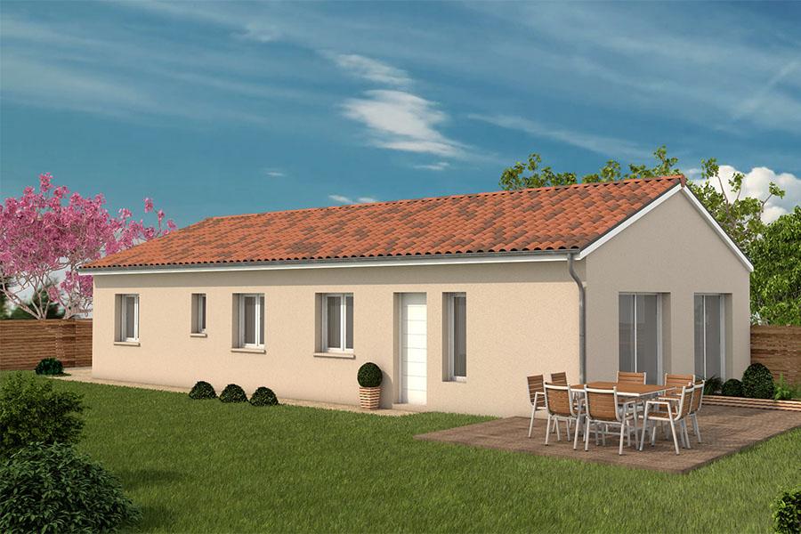 Maisons + Terrains du constructeur MAISONS ARLOGIS VILLEFRANCHE • 100 m² • MONSOLS