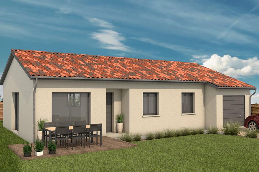 Maisons + Terrains du constructeur MAISONS ARLOGIS VILLEFRANCHE • 90 m² • MONSOLS