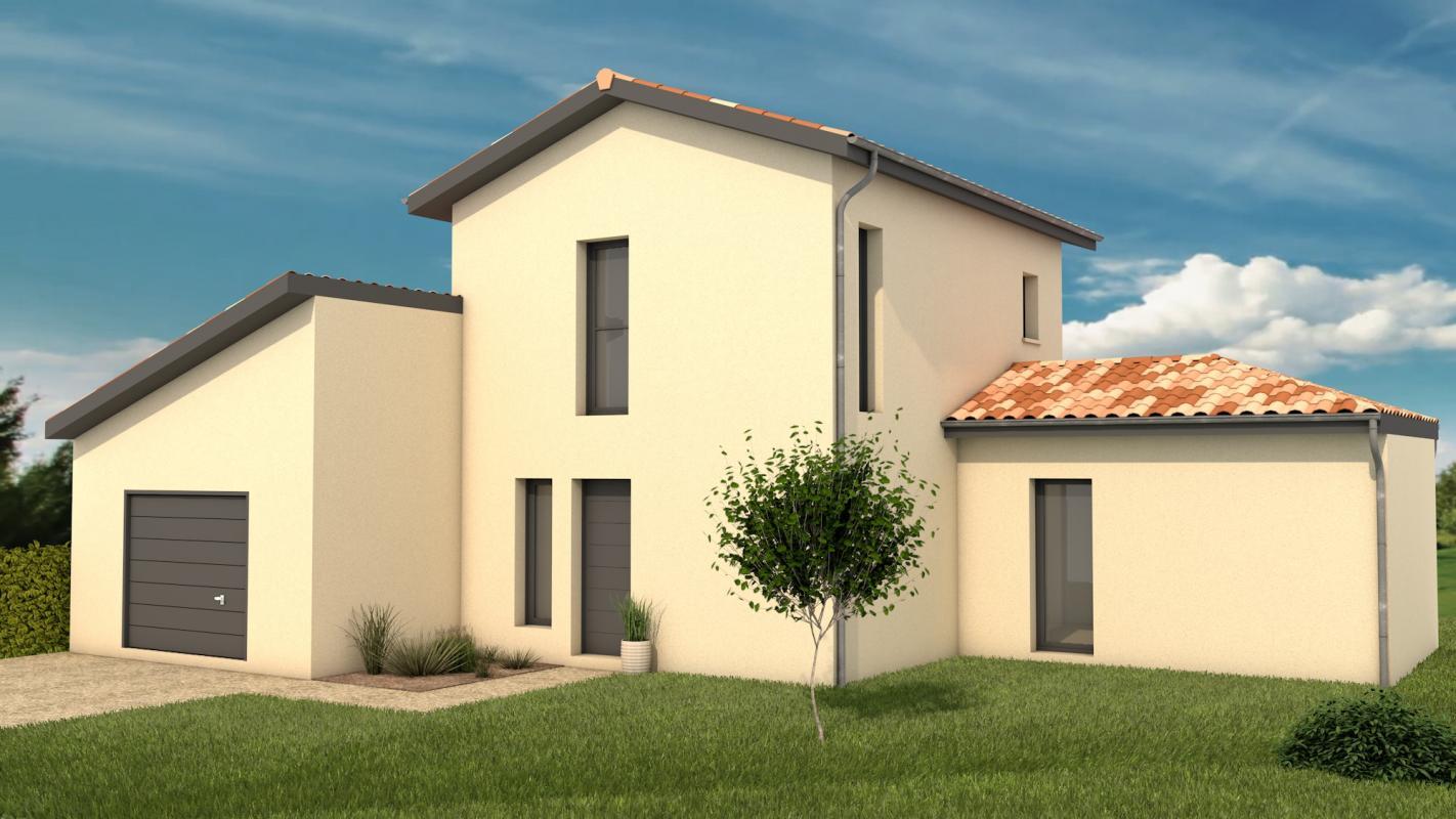 Maisons + Terrains du constructeur MAISONS ARLOGIS VILLEFRANCHE • 90 m² • CHIROUBLES