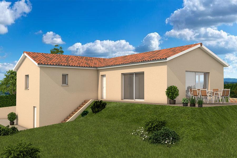 Maisons + Terrains du constructeur MAISONS ARLOGIS VILLEFRANCHE • 125 m² • CHIROUBLES