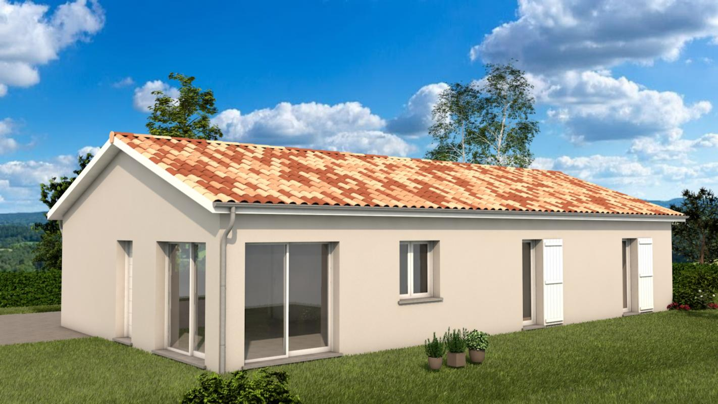 Maisons + Terrains du constructeur MAISONS ARLOGIS VILLEFRANCHE • 100 m² • CHIROUBLES