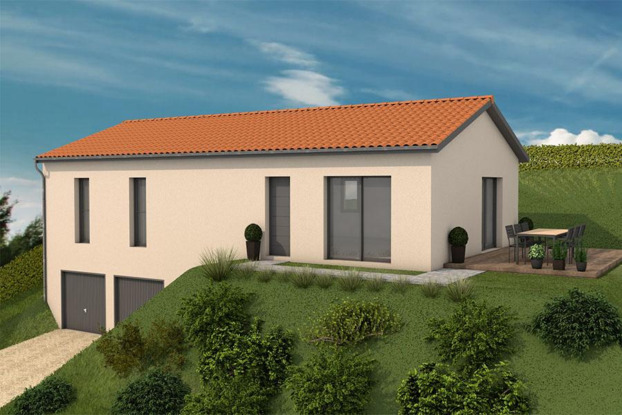 Maisons + Terrains du constructeur MAISONS ARLOGIS VILLEFRANCHE • 145 m² • CHIROUBLES