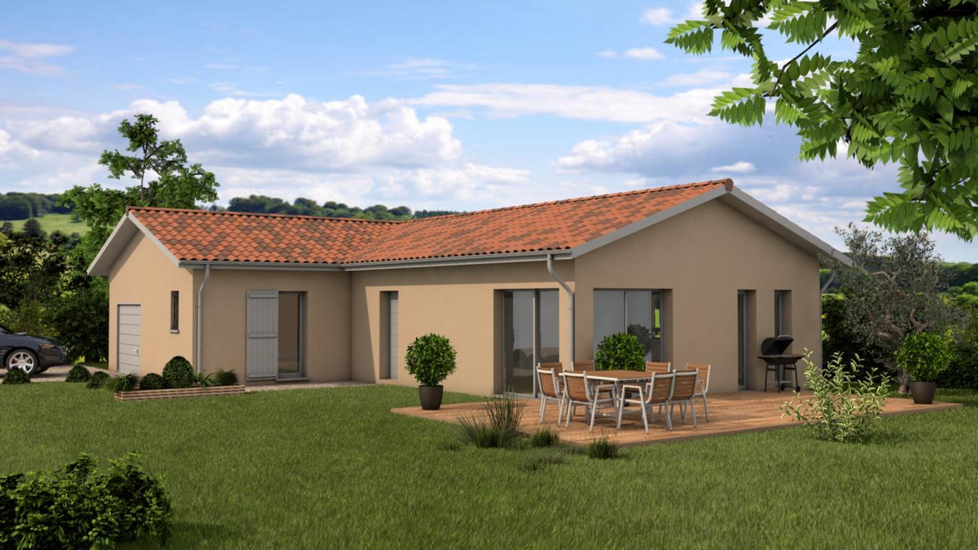 Maisons + Terrains du constructeur MAISONS ARLOGIS VILLEFRANCHE • 100 m² • VILLEFRANCHE SUR SAONE