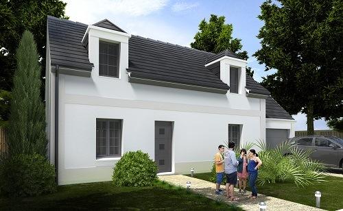 Maisons + Terrains du constructeur HABITAT CONCEPT • 93 m² • CHAUMONT EN VEXIN
