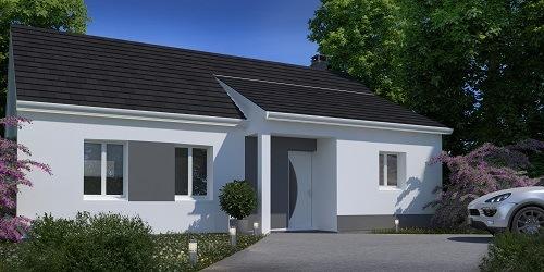 Maisons + Terrains du constructeur HABITAT CONCEPT GOURNAY EN BRAY • 76 m² • CUY SAINT FIACRE