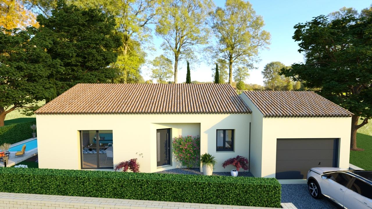 Maisons + Terrains du constructeur ART ET TRADITION MEDITERRANEE • 93 m² • RASTEAU