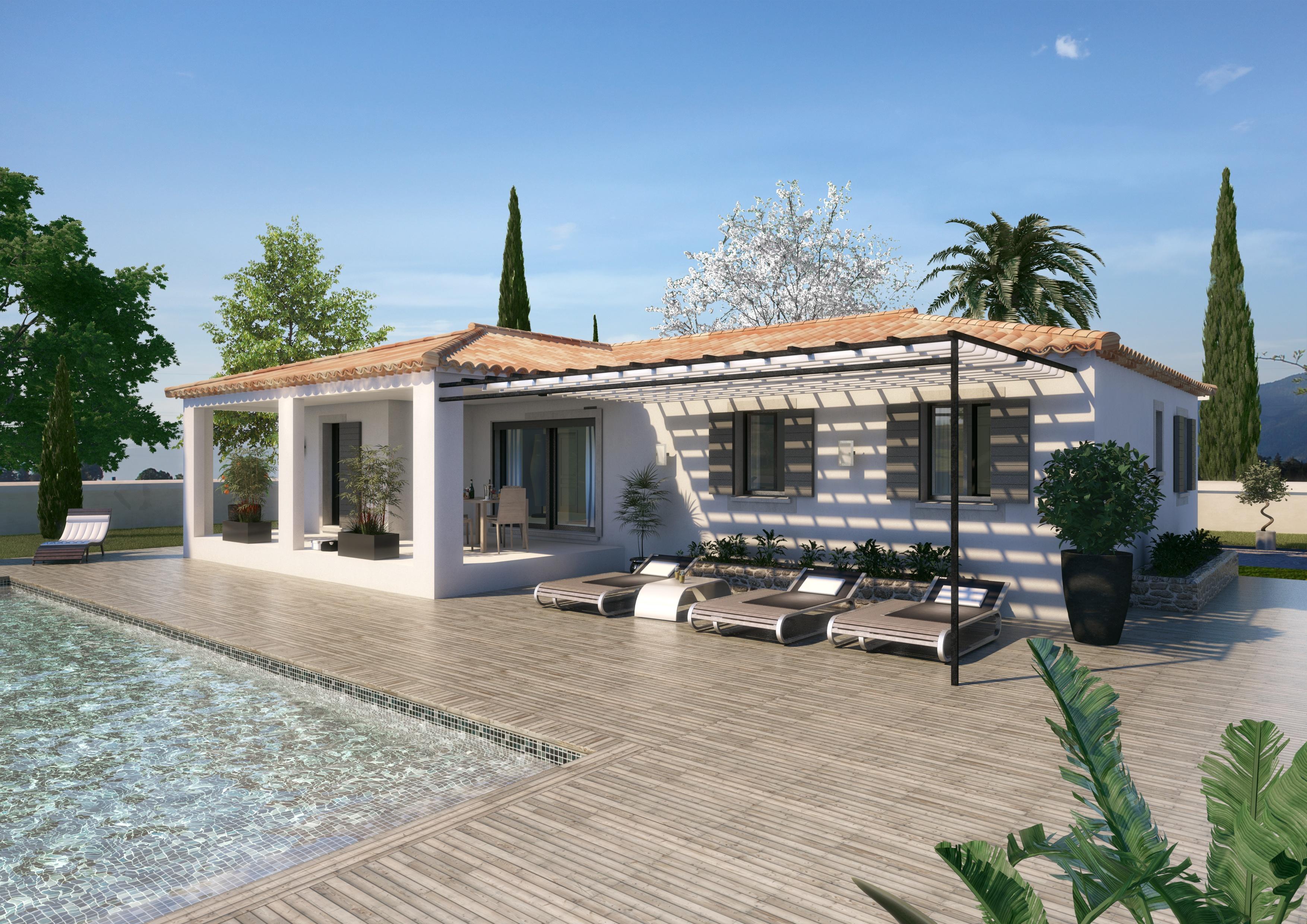 Maisons + Terrains du constructeur ART ET TRADITION MEDITERRANEE • 100 m² • SARRIANS