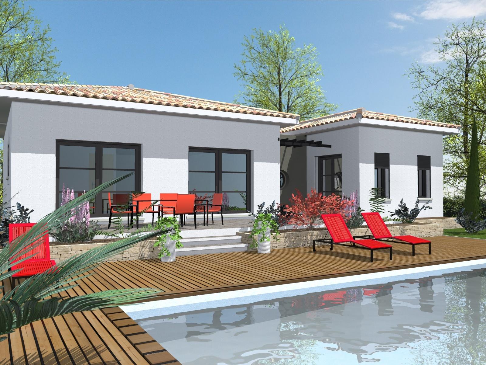 Maisons + Terrains du constructeur ART ET TRADITION MEDITERRANEE • 100 m² • LACOSTE