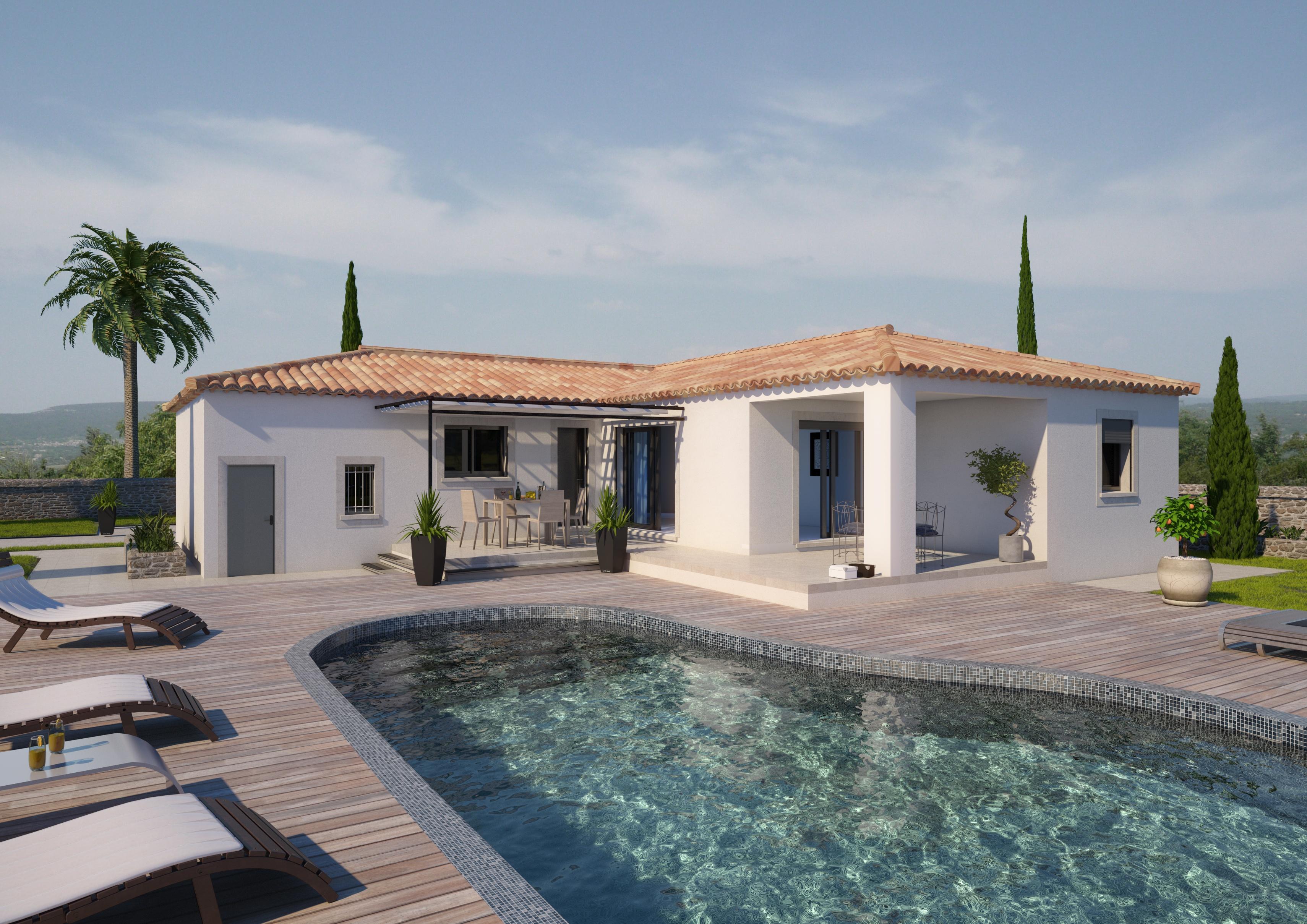 Maisons + Terrains du constructeur ART ET TRADITION MEDITERRANEE • 118 m² • LE THOR