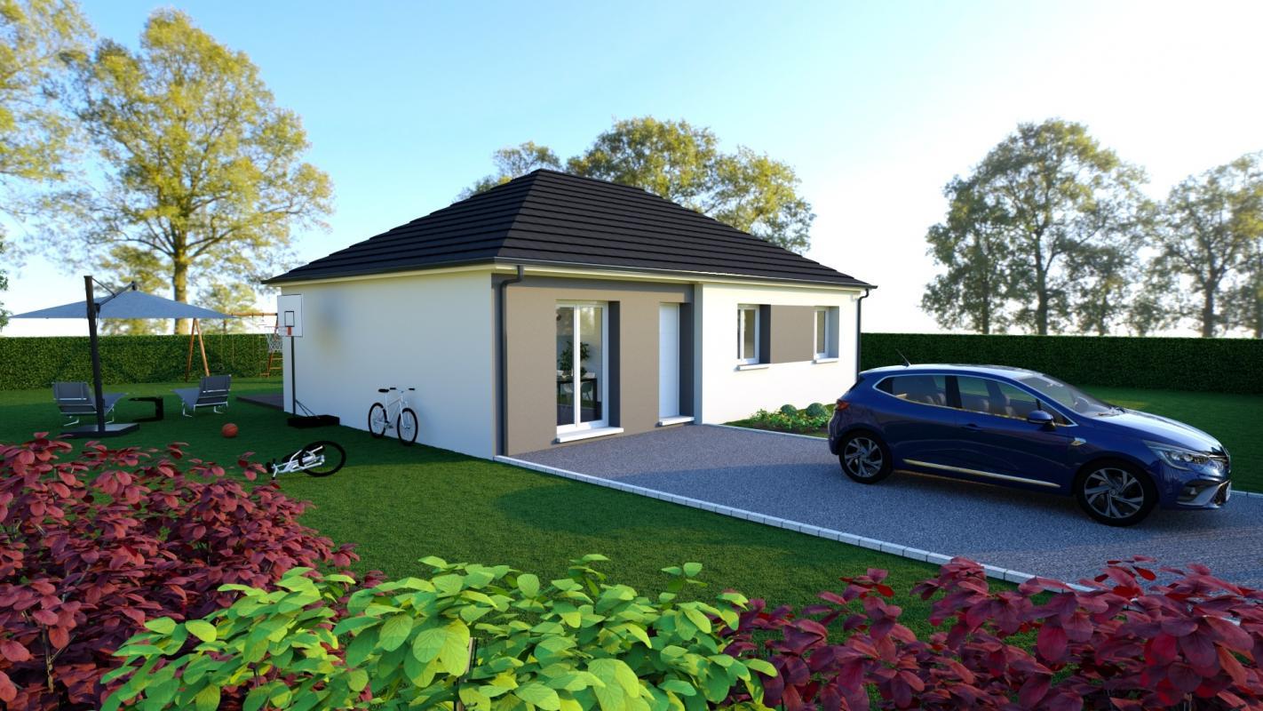 Maisons + Terrains du constructeur Maisons Arlogis Normandie • 75 m² • SAINT VAAST D'EQUIQUEVILLE