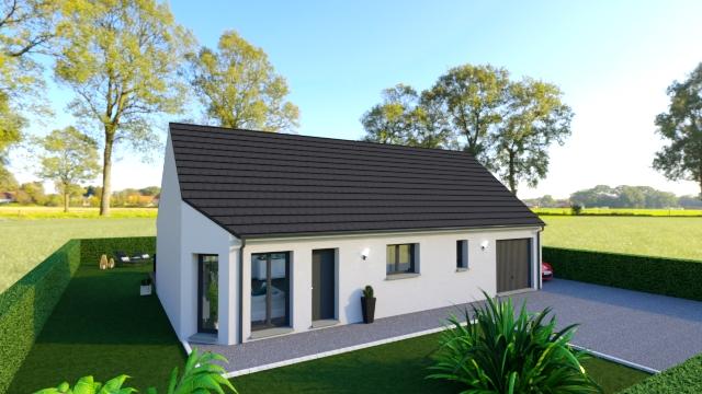 Maisons + Terrains du constructeur Maisons Arlogis Normandie • 90 m² • BIVILLE SUR MER