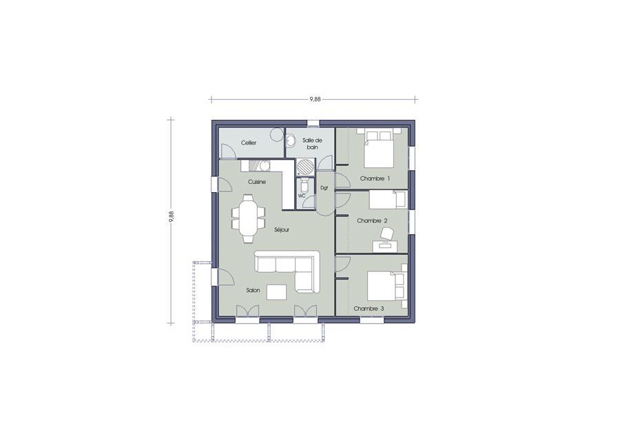 Maisons du constructeur ESQUISS BEAUZELLE • 110 m² • MONDONVILLE