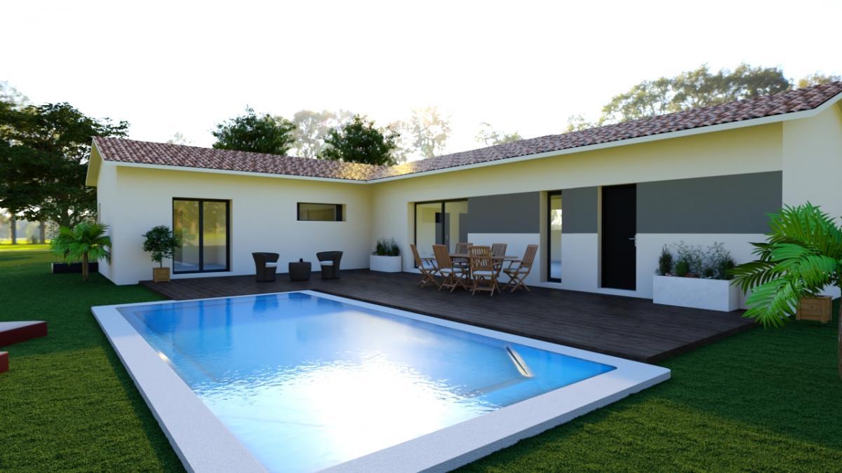Maisons du constructeur ESQUISS AUCAMVILLE • 95 m² • CASTELNAU D'ESTRETEFONDS