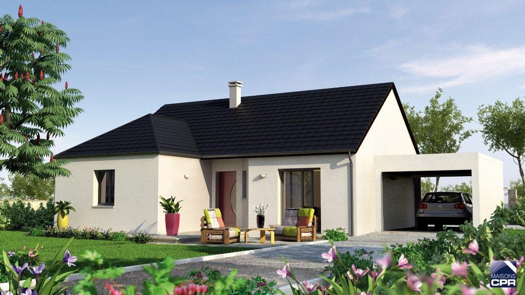 Maisons du constructeur CONSTRUCTIONS PERSONNALISEES ET RENOVATION REGION CENTRE • 90 m² • ASCHERES LE MARCHE