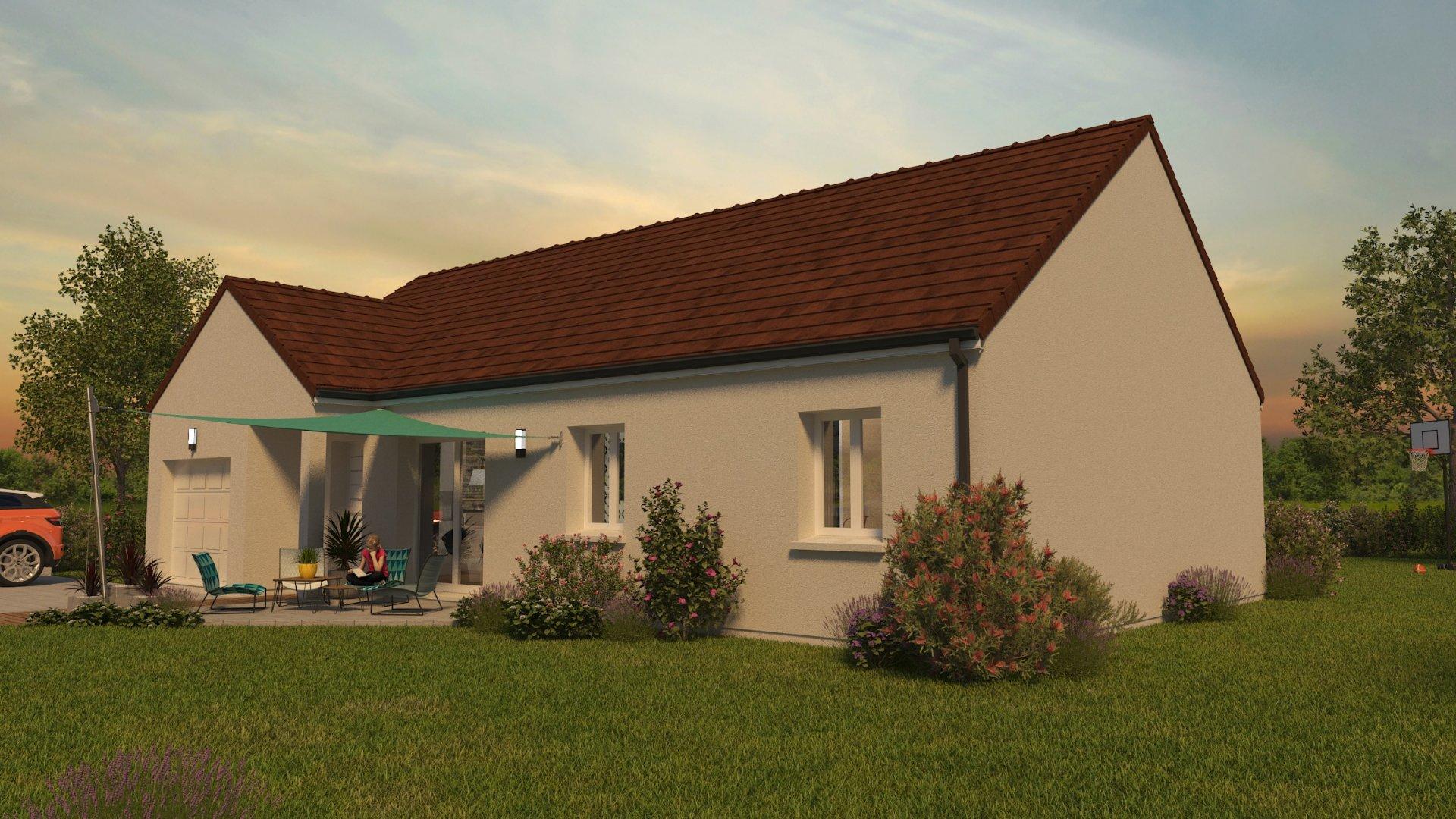 Maisons du constructeur CONSTRUCTIONS PERSONNALISEES ET RENOVATION REGION CENTRE • 98 m² • SAINT BRANCHS