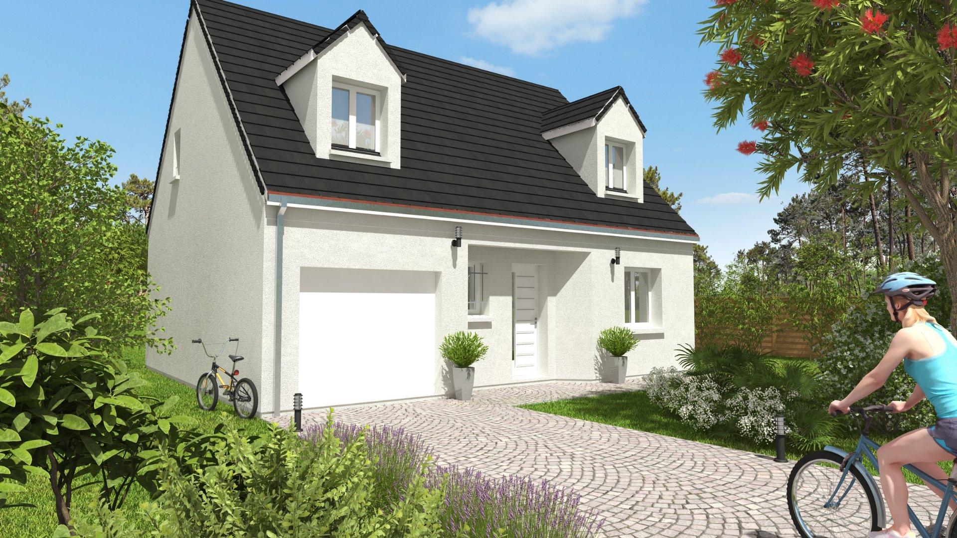 Maisons du constructeur CONSTRUCTIONS PERSONNALISEES ET RENOVATION REGION CENTRE • 91 m² • ROUZIERS DE TOURAINE