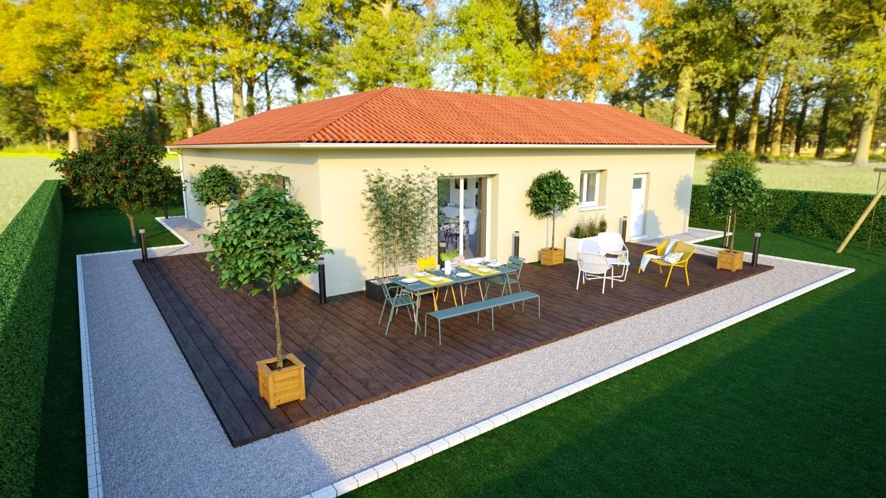Maisons + Terrains du constructeur MAISONS AXIAL - BOURG EN BRESSE • 109 m² • SULIGNAT