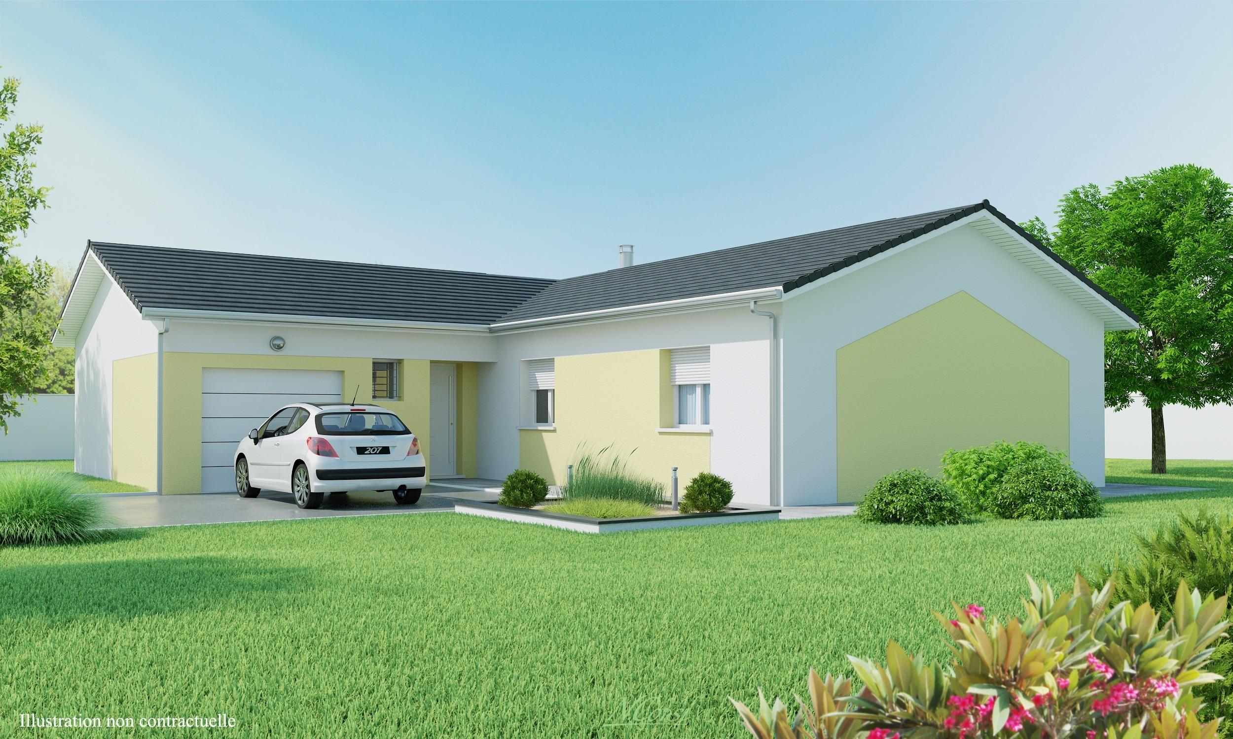 Maisons + Terrains du constructeur MAISONS AXIAL - BOURG EN BRESSE • 100 m² • ATTIGNAT