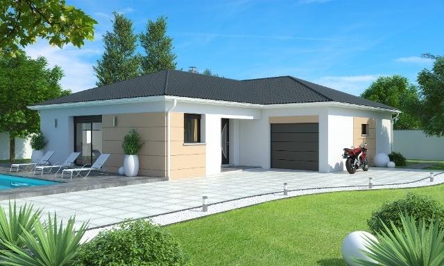 Maisons + Terrains du constructeur MAISONS AXIAL - BOURG EN BRESSE • 90 m² • VONNAS